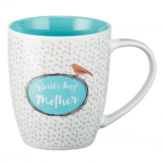 MUG 472 Kopp - World's Best Mother. Her Children Arise And Call Her Blessed