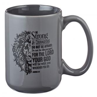 MUG 533 Kopp - Be Strong & Courageous (450 ml)