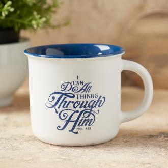 MUG 541 Kopp i Keramikk - I Can Do All Things Through Him (325 ml)