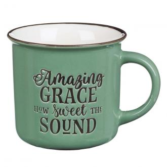 MUG 568 Kopp - Amazing Grace How Sweet The Sound - Green Camp Style (390 ml)