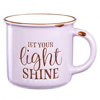 MUG 569 Kopp - Let Your Light Shine - Lavender Camp Style (390 ml)