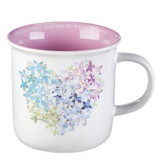 MUG 572 Kopp - Heart Floral - Non Scripture (330 ml)