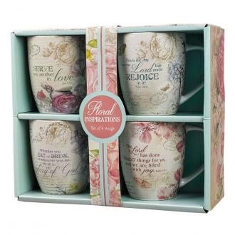 MUGS 07 Koppsett - Floral Inspirations (Set of 4 in Giftbox)