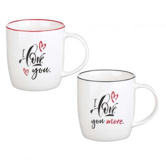 MUGS 17 - Koppesett 2 pk - I Love You / I Love You More (300ml)