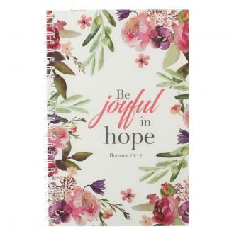 NBW 007 Notisbok - Be Joyful in Hope Wirebound Notebook - Romans 12:12