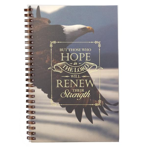 NBW 010 Notisbok - Hope In The Lord Wirebound Notebook - Isaiah 40:31