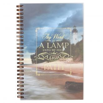 NBW 011 Notisbok - A Lamp Unto My Feet Wirebound Notebook - Psalm119:105