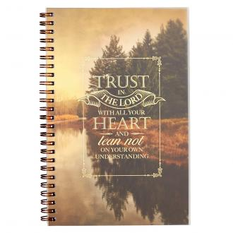 NBW 012 Notisbok - Trust in the Lord Wirebound Notebook - Proverbs 3:5