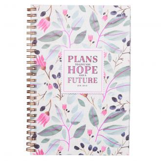 NBW 013 Notisbok - Plans To Give You Hope Wirebound Notebook - Jeremiah 29:11