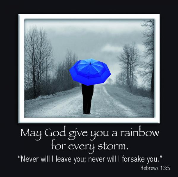 PFM 019 Magnetisk fotoramme - May God Give You A Rainbow