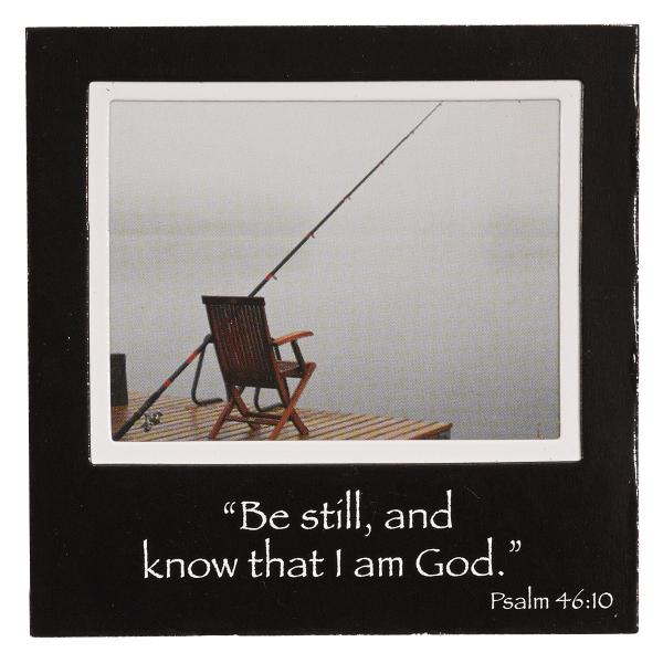 PFM 024 Magnetisk fotoramme - Be Still and Know That I am God