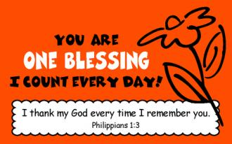 Kortpakke - You Are One Blessing I Count Every day! (25 stk)