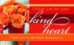 Kortpakke - I Thank You For Your Kind Heart (25 stk)