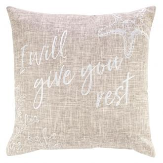 PLW 009 Pute - I Will Give You Rest (45 x 45 cm)