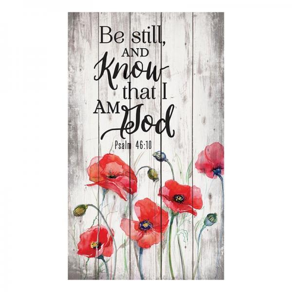 PNL 0060 Veggdekor - Be Still And Know That I Am God 35 x 60 cm