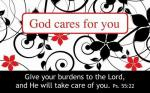 Kortpakke - God Cares For You (25 stk)