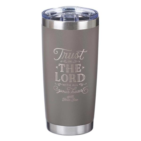SMUG 191 Reisekopp - Trust In The Lord Stainless Steel Mug in Taupe - Proverbs 3:5