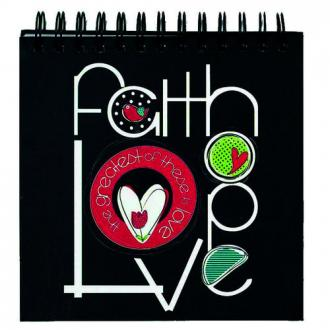 Notisbok - Faith Hope Love