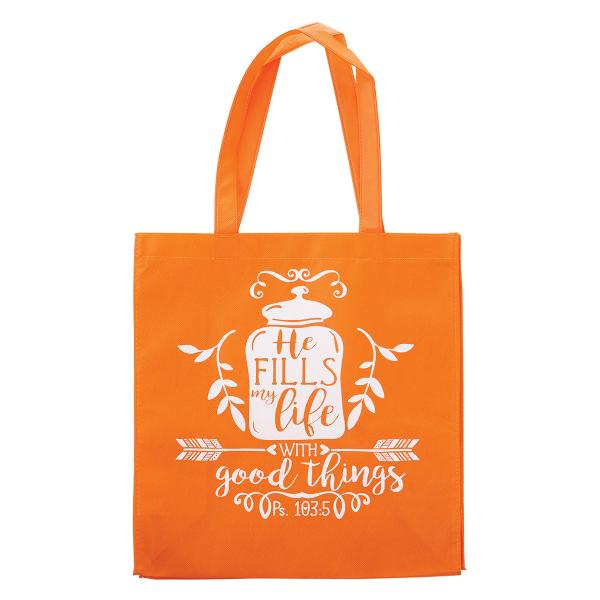TOT 092 Shopping Bag - He Fills My Life With Good Things