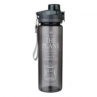 WBT 101 Drikkeflaske - For I Know The Plans (750 ml Black)