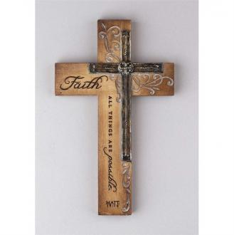 WCR-1109 Veggkors - Faith, All Things Are Possible (23 cm)