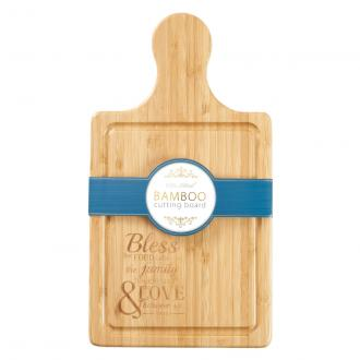 WCU 001 Bamboo Cutting Board - Bless The Food Before Us The Family Beside Us & The Love Between Us - Amen