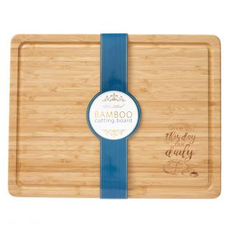 WCU 002 Bamboo Cutting Board - Give Us Today Our Daily Bread (30x40 cm)