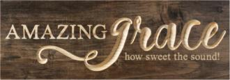 WPB 0012 Carved Hanging Sign - Amazing Grace (40 x 14 cm)