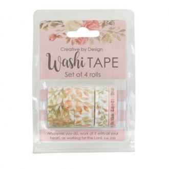 WTP 003 Bible Journaling Washi Tape - Set of 4 Rolls