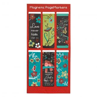 MGB 044 Magnetiske Bokmerker - Love Grows (6 pack)