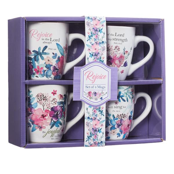 MUGS 14 Koppesett - Rejoice Collection (Set of 4 in Giftbox)