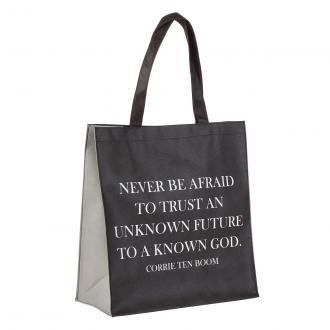 TOT 070 Shopping Bag - Never Be Afraid To Trust An Unknown Future To A Known God (Corrie Ten Boom)